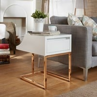 Furniture of America Lorria Contemporary Rose Gold End Table | Overstock.com Shopping - The Best Deals on Coffee, Sofa & End Tables