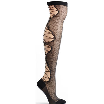 Lace Up Over the Knee Sock