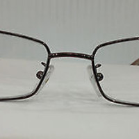 NEW AUTHENTIC FENDI F892 COL 212 SHINY BROWN W/RED METAL EYEGLASSES FRAME F 892