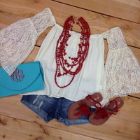 FLY AWAY WITH ME IN CREAM LACE – LaRue Chic Boutique