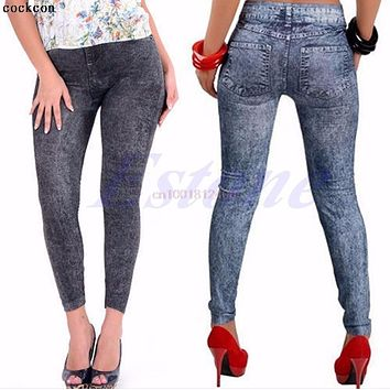 NEW Sexy Leggings Women Jean Skinny Jeggings Stretchy Slim Leggings Fashion Skinny Pants