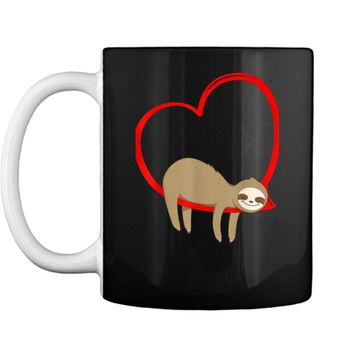Valentine's Day Sloth  Gifts for Girls Women Sloths Mug