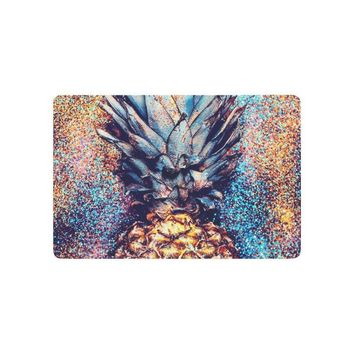 Autumn Fall welcome door mat doormat Tropical Fruit Anti-slip  Home Decor, Pineapple Indoor Outdoor Entrance  Rubber Backing AT_76_7