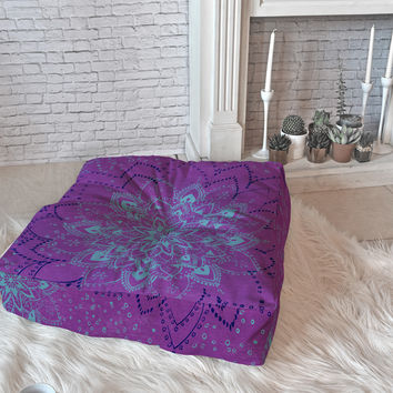 RosebudStudio Purple Dream Floor Pillow Square