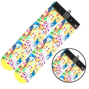 """4x16"""" Pocket Manster Pokemon Eevee Short Cotton Socks Colorful Stockings Warm Tights Cosplay Costume Unisex Fashion Gifts Cool"""