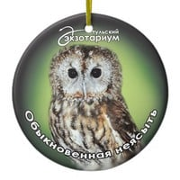 Symbol of wisdom Double-Sided ceramic round christmas ornament