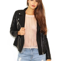 West Coast Wardrobe  Blow Your Mind Vegan Leather Jacket in Black