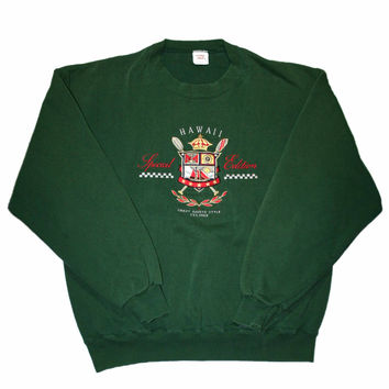 Vintage 90s Crazy Shirts Special Edition Hawaii Crewneck Sweatshirt Made in USA Mens Size Large
