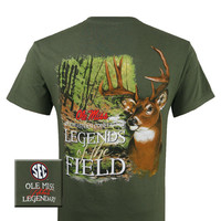 Mississippi Ole Miss Rebels Legends of the Field Deer Unisex Bright T-Shirt