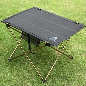 Outdoor Folding Table Camping 7075 Aluminium Alloy Picnic Table Waterproof Ultra-light Folding Table Desk For Picnic Home AT6728
