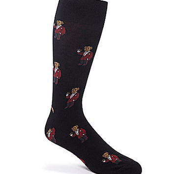 Polo Ralph Lauren Martini Bear Mid-Calf Dress Socks