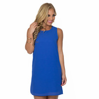 Simple Kind Of Love Shift Dress In Royal Blue