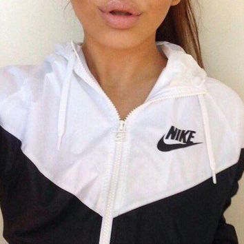 Nike Popular Unisex Leisure Print Zipper Hoodie Cardigan Sweatshirt Jacket Coat Windbreaker Sportswear I-1
