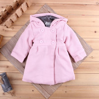 Famous fashion design models female baby jacket long-sleeved Spring flowers lining cotton baby cotton hooded jacket