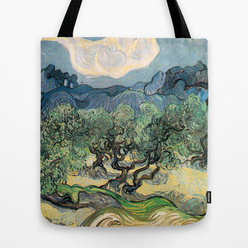 Olive Trees by Vincent van Gogh.  Tote Bag by NatureMatters