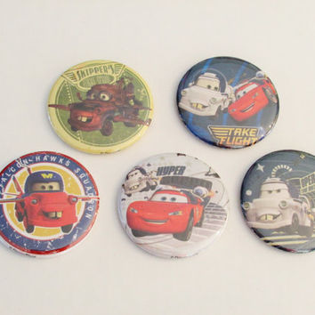 Disney Cars Magnet Set of 5 - Birthday Party Favors - Pinata Prizes - Cars Birthday - Cars Party Favor