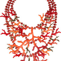 Kenneth Jay Lane | 22-karat gold-plated resin necklace | NET-A-PORTER.COM