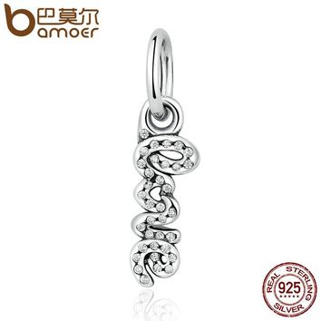 "DIY 925 Sterling Silver Romantic ""LOVE"" Letter Pendant Charms Fit Bracelets & Necklaces Symbols of LOVE Jewelry PSC004"