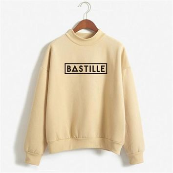 bastille Sweatshirt Winter Women 2017 Fashion Printed Letter Sweatshirt Woman Winter Letter Pullover Hoodies Women NSW-11452