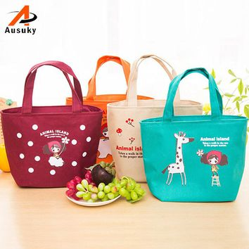 women bag  Hot Sale Variety Girl Pattern Lunch Bag Lunchbox Women Handbag Oxford Picnic Bag Lunchbox For Kids Adult 4 Styles 40