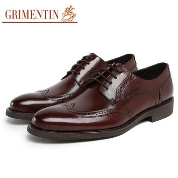 Fashion Classic Vintage Men Oxford Leather Shoes Black Brown Mens Casual Shoe Office