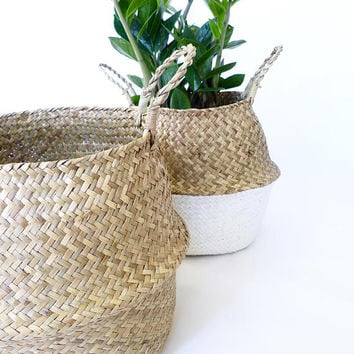 Winter Collection | Handwoven natural seagrass basket | by Olive Jennings Furniture
