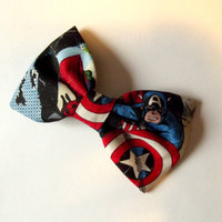 Comic Book Marvel Bow Hair Clip