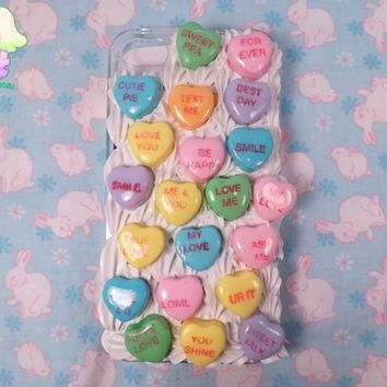 valentine s day conversation heart decoden case for iphone 4 iphone 4s