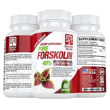 Pure Forskolin Extract – Indian Coleus Forskolin Plant Therapy for Natural Weight Loss – Burn Fat – Boost Metabolism – #1 Antioxidant – Look Leaner & Boost Confidence for Women & Men by Nature Bound