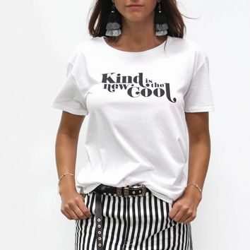 AMUSE SOCIETY Kind Is The New Cool Tee White