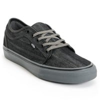 Vans Chukka Low Black Canvas & Pewter Skate Shoes