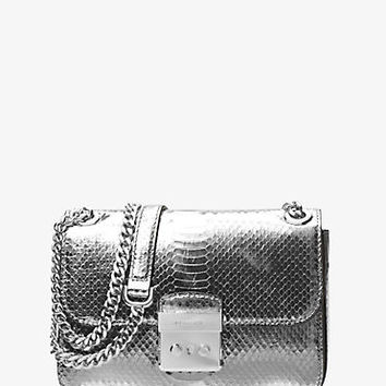 Sloan Editor Medium Embossed-Leather Shoulder Bag | Michael Kors
