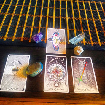 Physical, Mental, Emotional, Spiritual Tarot Reading (4 Card)