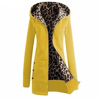 Women Solid Color Side Buttons Slim Jacket coat