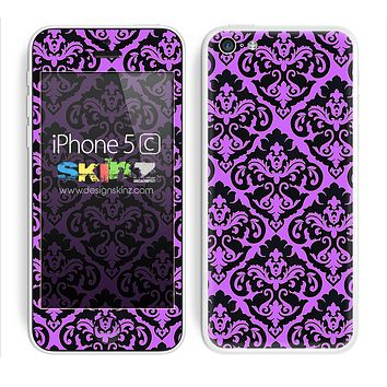 Mirrored V2 Pattern Pink and Black Skin For The iPhone 5c