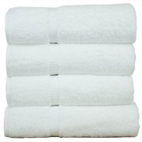 Bath Towel White Turkish Cotton Bathroom Hotel Spa Soft Lot of 4 Luxurious Gift