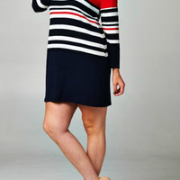 Colorblock Knit Dress (Plus Size)