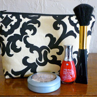 Damask- Cosmetic, Toiletry and Makeup Bag