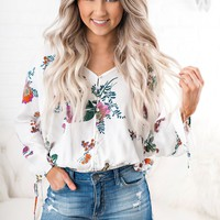 Getting Even Floral Top (Vanilla Combo)