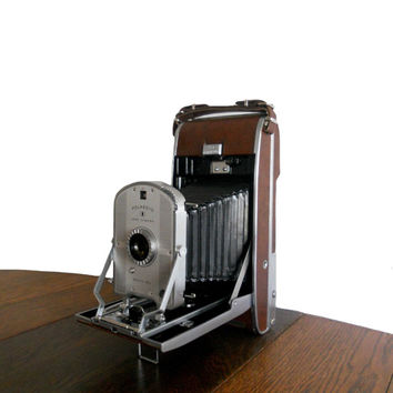 "Vintage Polaroid Camera Speedliner Model 95B w/ Original Paper Instructions and Box - ""60 Seconds from Snap to Print"""
