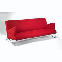 Easy Rider Red Microdenier Couch | Overstock.com