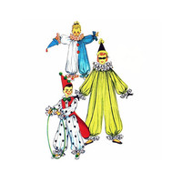 """1950's Simplicity 4864 Boy's or Girl's Clown Costume Size Medium 