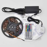 RioRand 16.4 Ft RGB Color Changing Kit with LED Flexible Strip, waterproof, 44 Button Controller + Remote and 12 Volt Power Supply Lights Lighting ideal for Chrismas, Party, Indoor/ Outdoor decoration(the Remote can't control through obstacles)