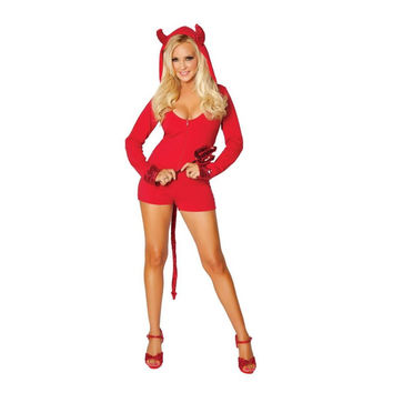 Roma Costume Womens Cozy Lil Devil Halloween Party Costume Set