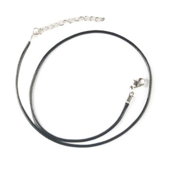 Fashion Black Leather Chain Rope Cords Men Women Necklace Chain Tail Jewelry Accessories Findings Components