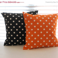 Labor Day SALE Pillows, Halloween, Halloween Pillows, Orange and Black Pillows, Decorative Throw Pillows, Throw Pillow, Decorative Pillows,