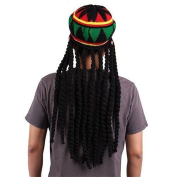Jamican Rasta Hat Dreadlocks Wig