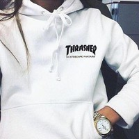 Thrasher Fashion Flame Hooded Top Sweater Pullover Hoodie