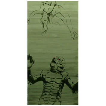 The Creature From The Black Lagoon 10 x 20 Classic Film Art Movie Poster Style Street Art Pop Art Cinema Inspired Artwork on Canvas