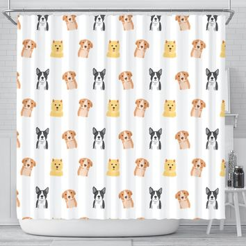 Three Muskehounds Shower Curtain